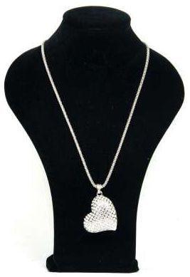 Halsketting Hart met strass kristallen