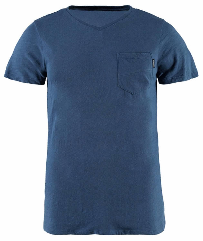 Brunotti Adrano Heren T-shirt V-hals Jeans Blue