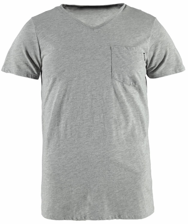 Brunotti Adrano Heren T-shirt V-hals Light Grey Melee