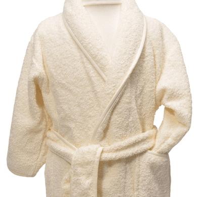 Clarysse Kimono kinderbadjas zonder capuchon Ivoor 134/140