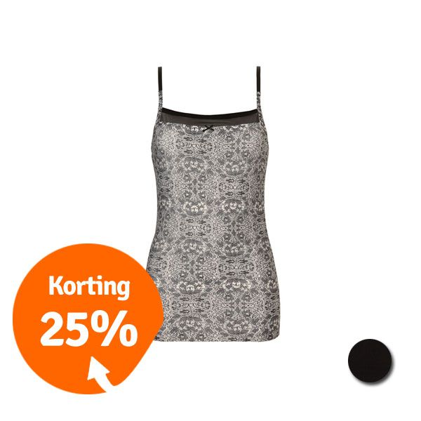 Ten Cate Secrets Naadloos Shirt Black + Print Circles