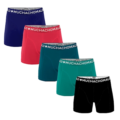 Muchachomalo Men 5-Pack Light Cotton solid-XXL