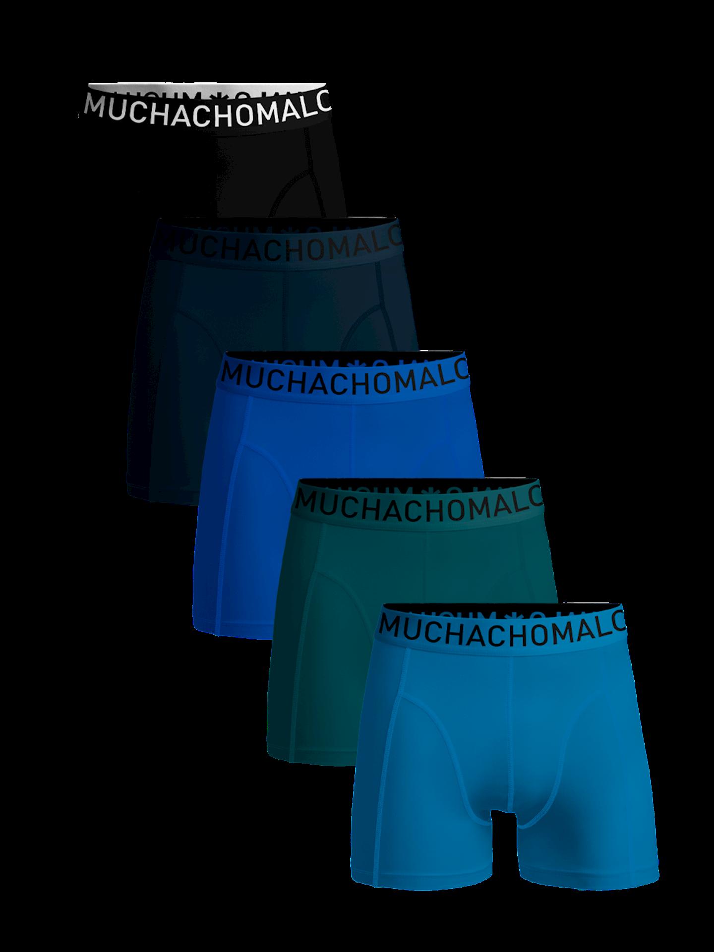 Muchachomalo Men 5-Pack Dark Cotton solid-M