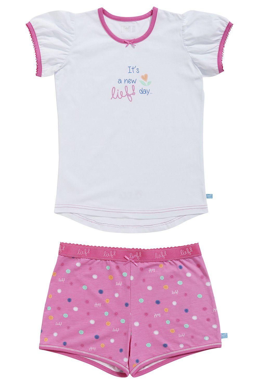 Lief! Girls shortama 40005 Pink Dots