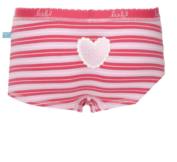 Meisjeshipster Lief! Pink Stripe-110/116