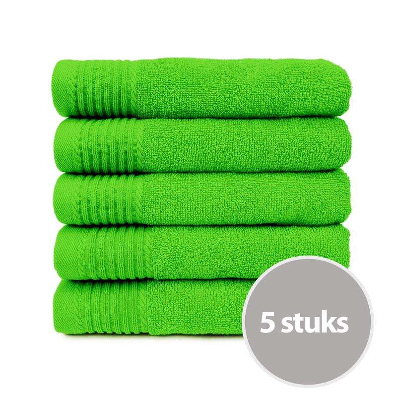 The One Handdoek 450 gram 50x100 cm Lime (5 stuks)