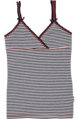 Claesen's Girls Singlet Navy/White