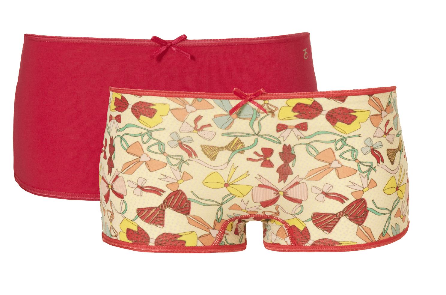 Ten Cate meisjes giftset short 2-pack roze en en strikjes motief