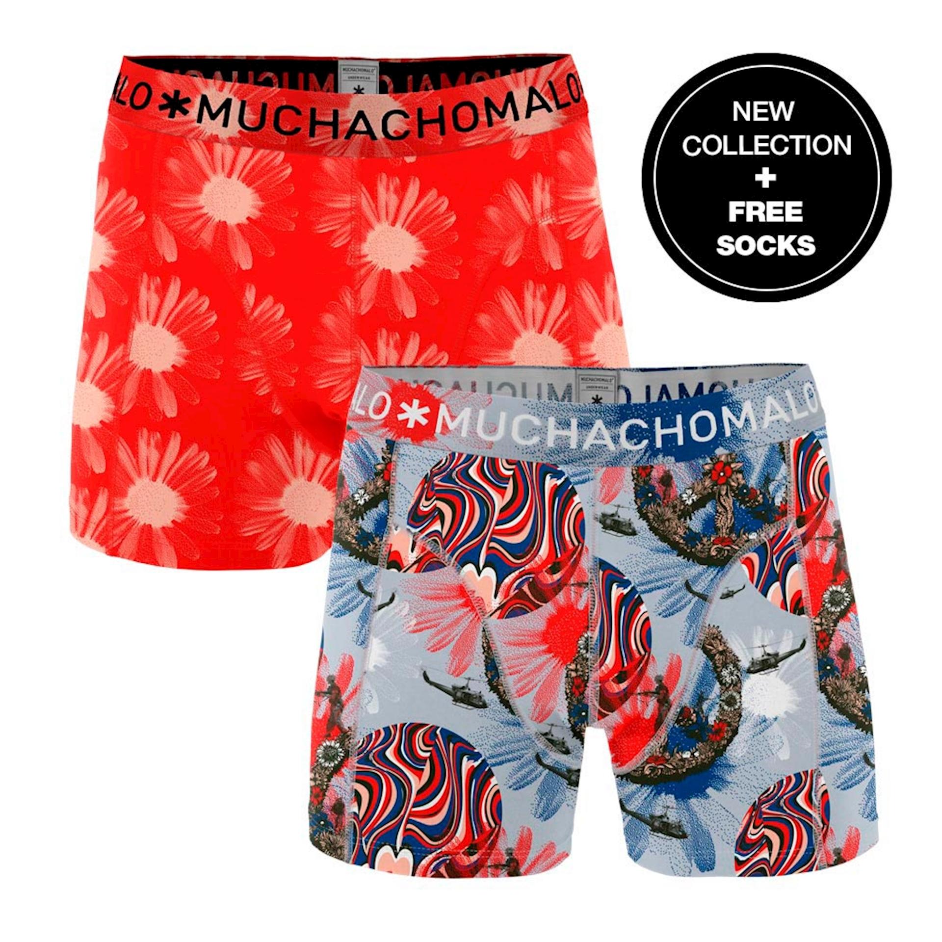 Muchachomalo Boxershorts Flower Power 2-pack + gratis sokken