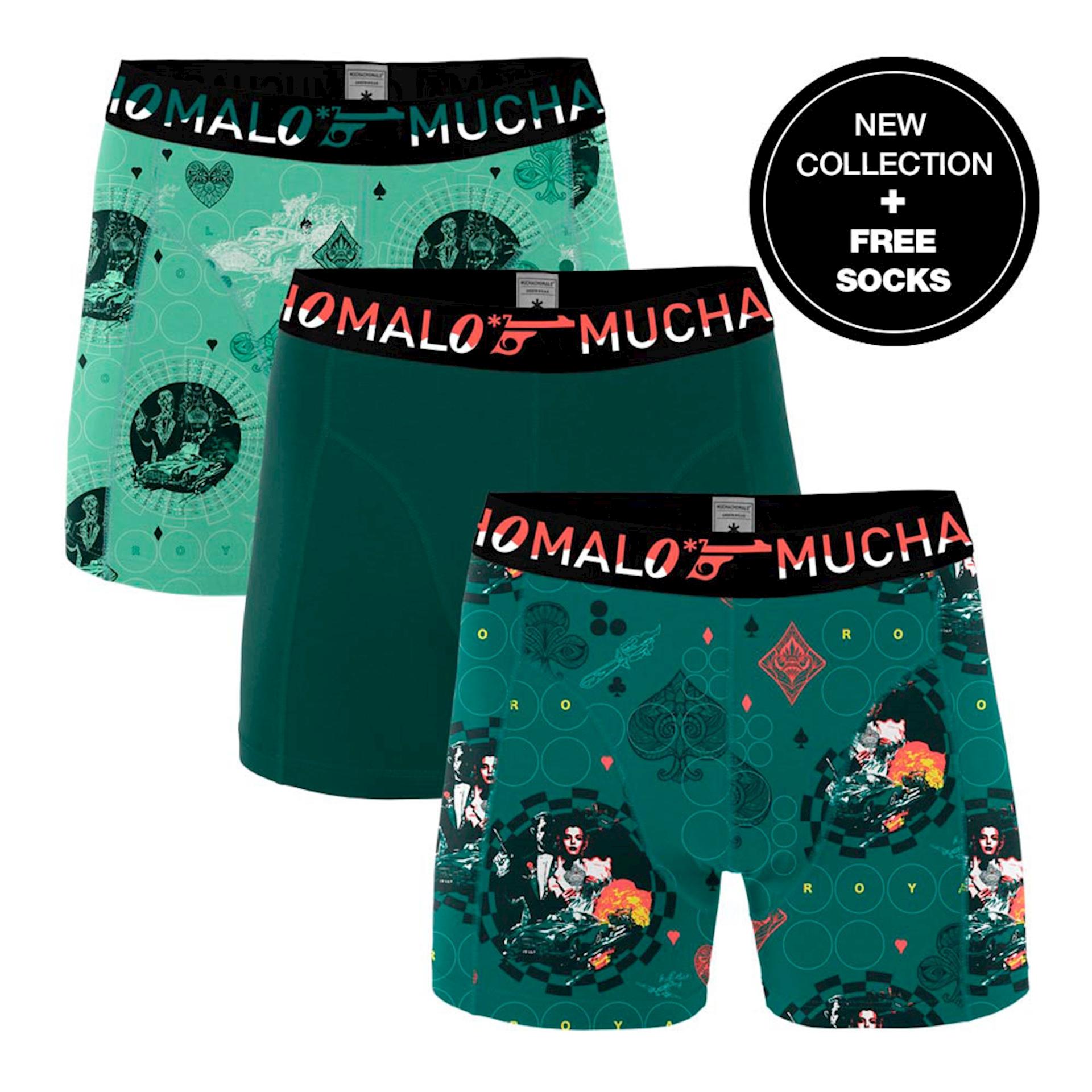 Muchachomalo Boxershorts Casino Royal 3-pack + gratis sokken