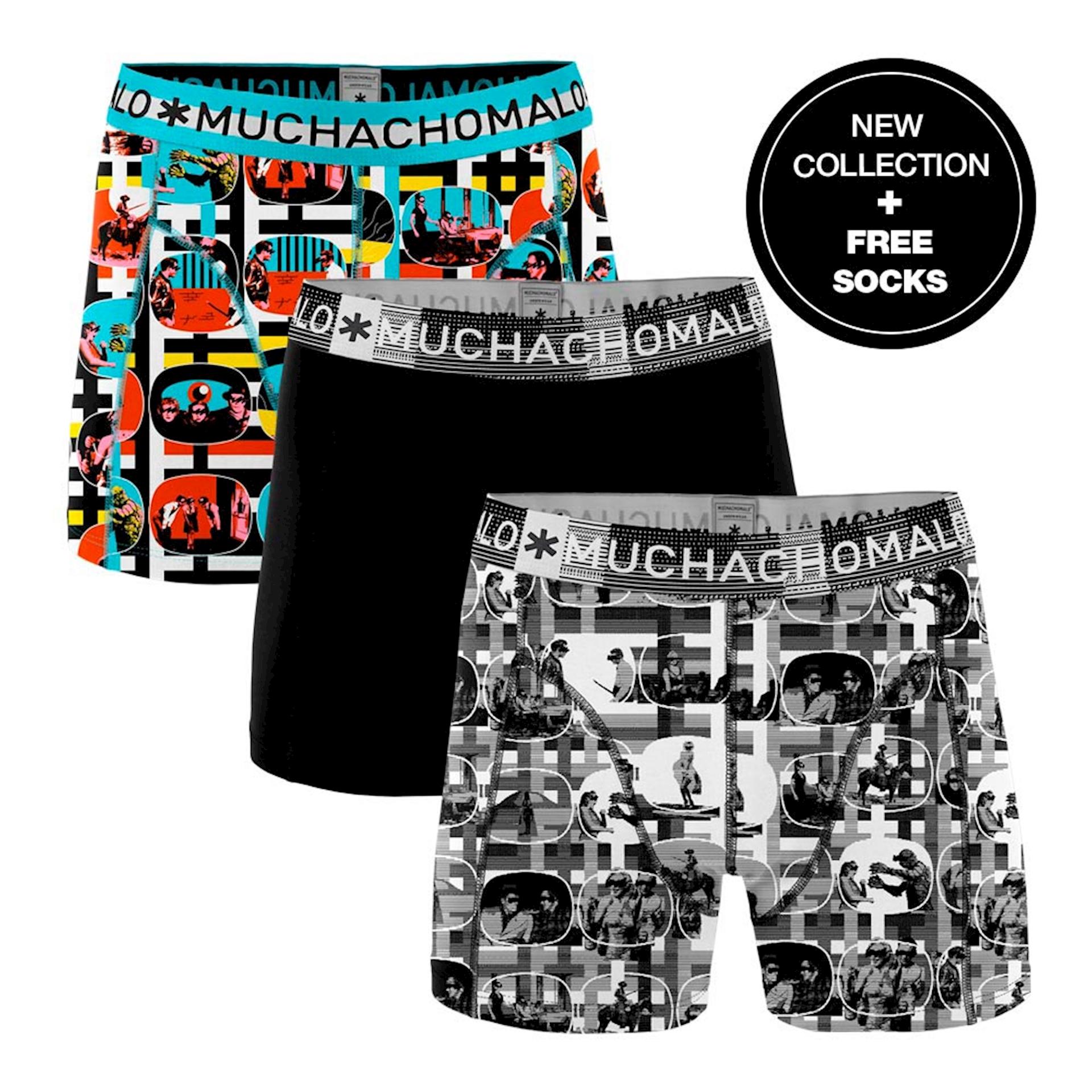 Muchachomalo Boxershorts Color Television 3-pack + gratis sokken