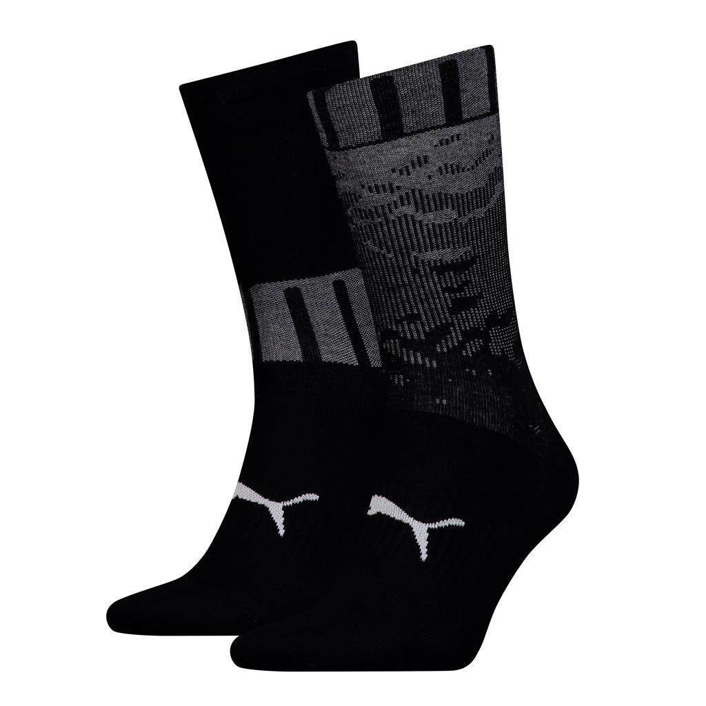 Puma sokken heren Black 2-pack