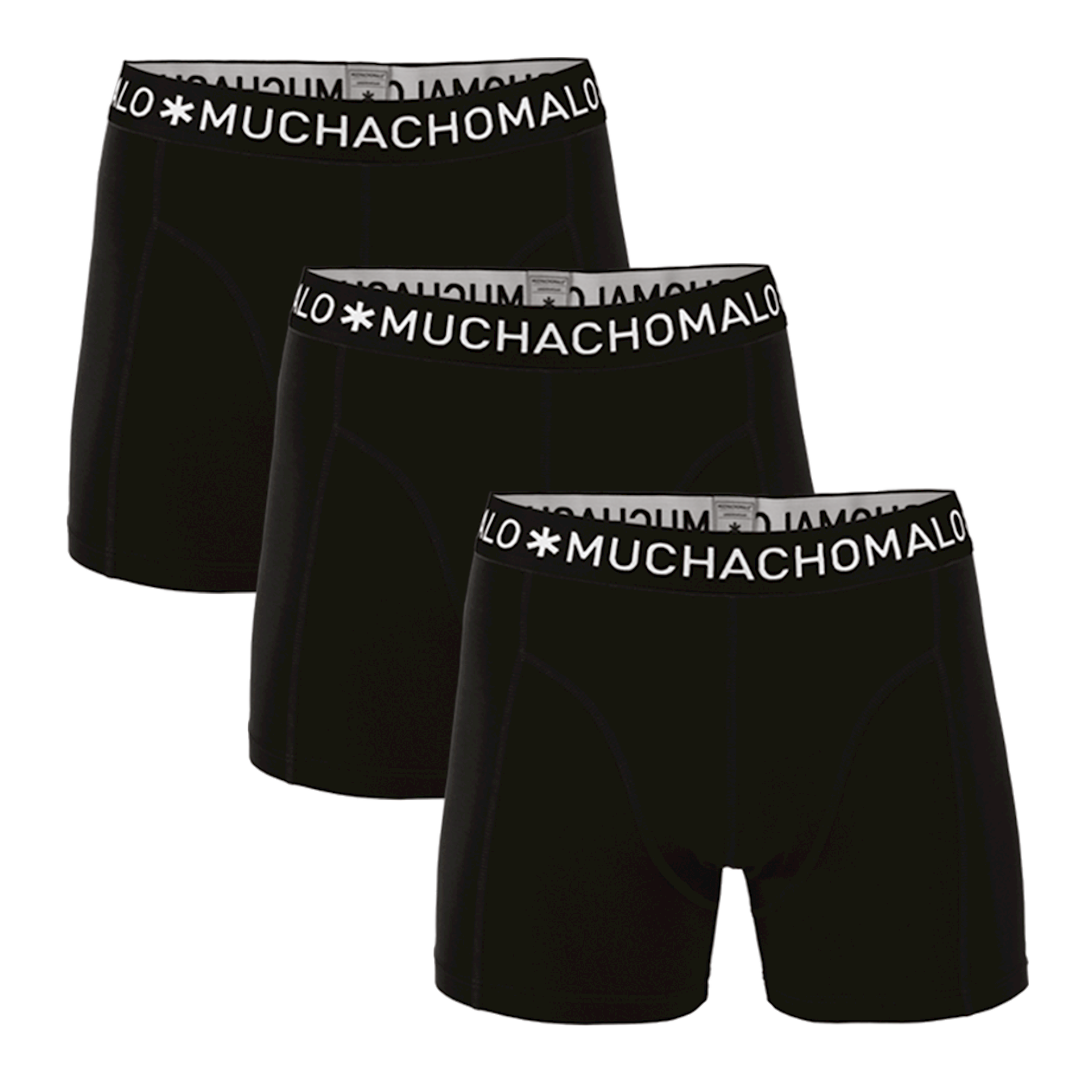 Muchachomalo Boxershorts Solid185 3 pack-L