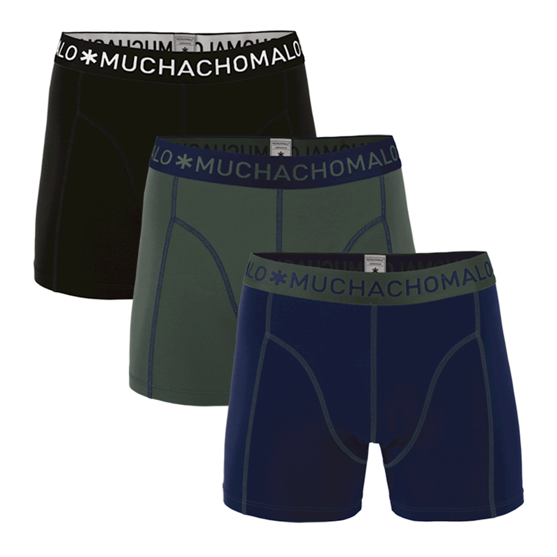 Muchachomalo Boxershorts Solid186 3 pack
