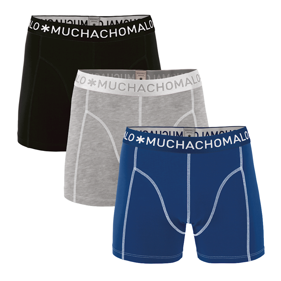 Muchachomalo Boxershorts Solid187 3-pack