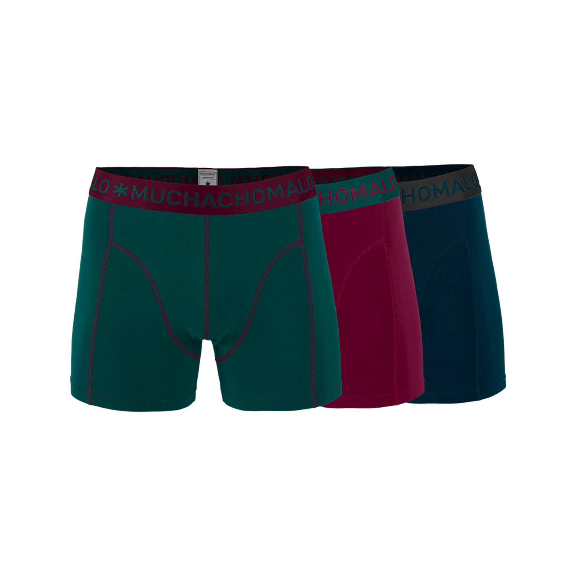 Muchachomalo Boxershorts 3 pack solide-S