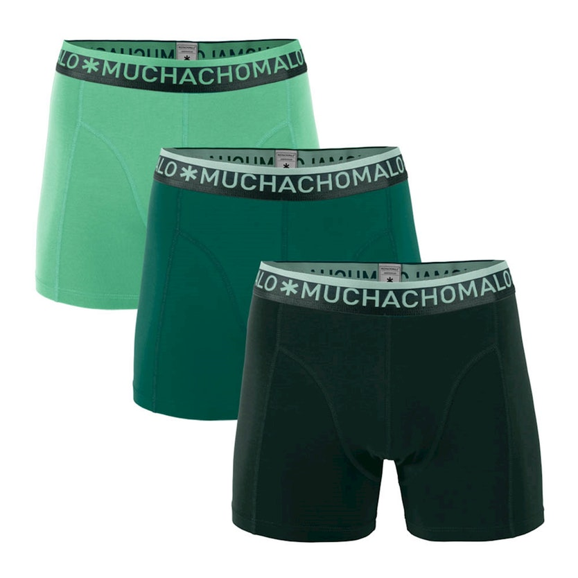 Muchachomalo boxershorts Solid Green 3-pack-XL