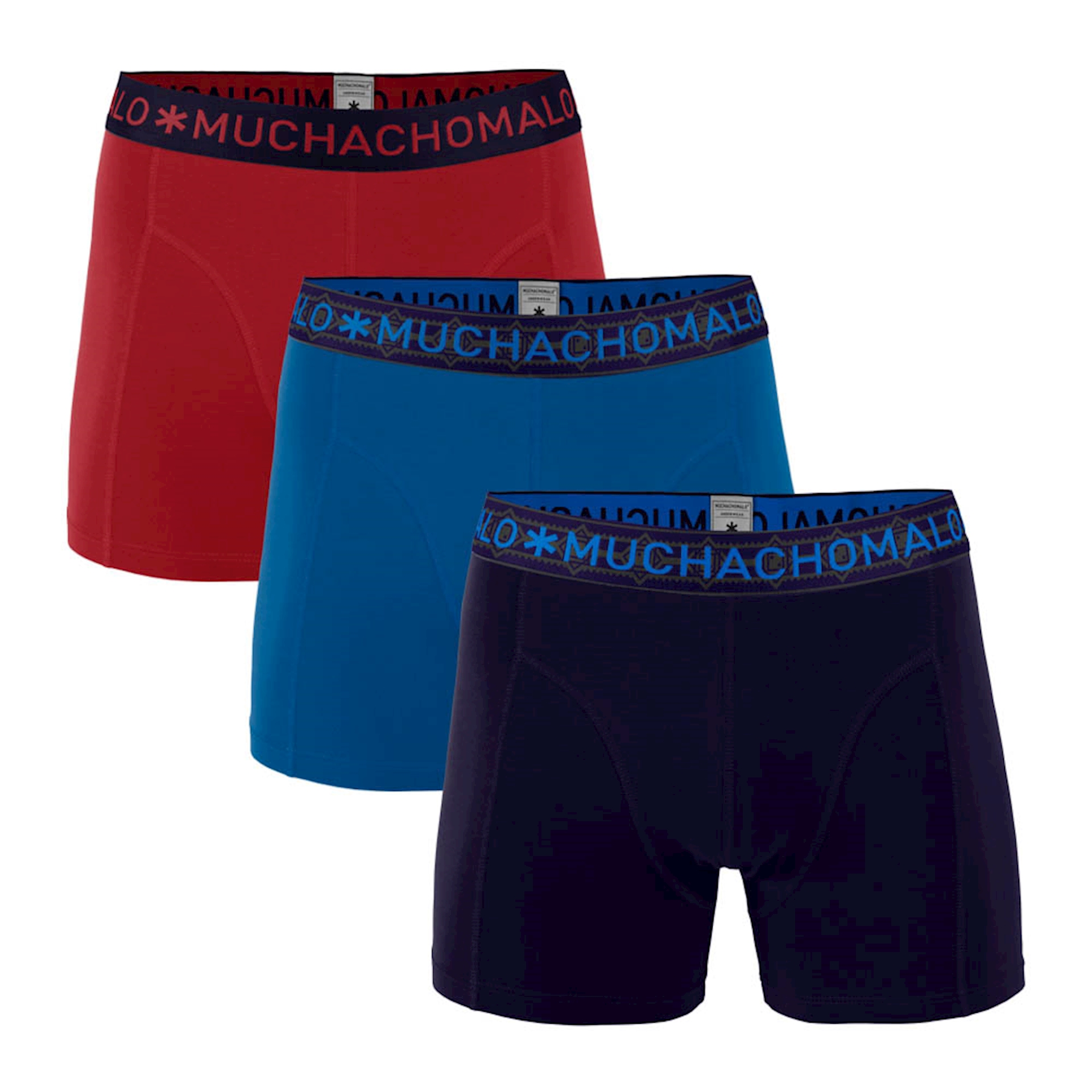 Muchachomalo boxershorts Solid 3-pack-XXL