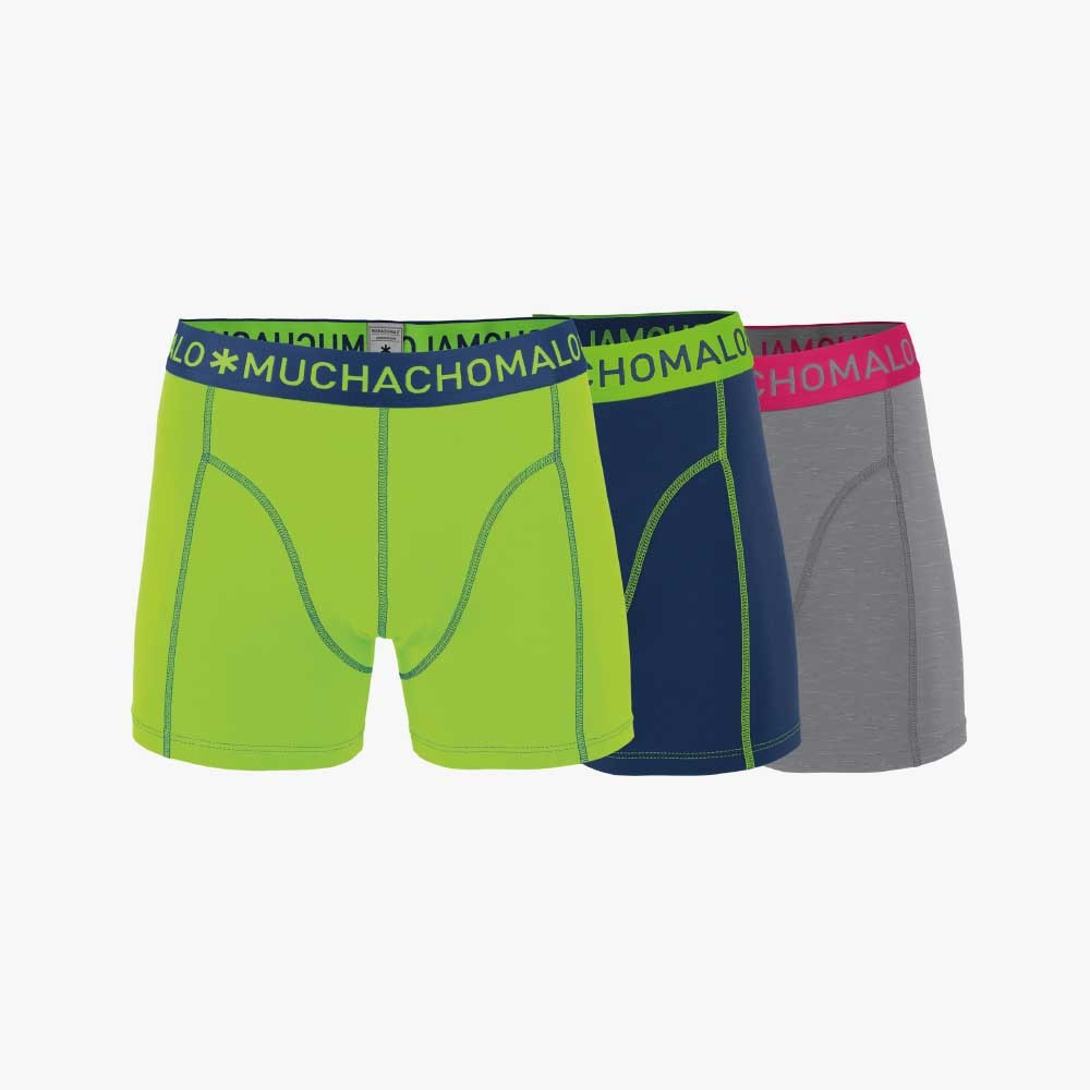 Muchachomalo Boxershorts 3 pack MEN SHORT SOLID/SOLID/SOLID-S