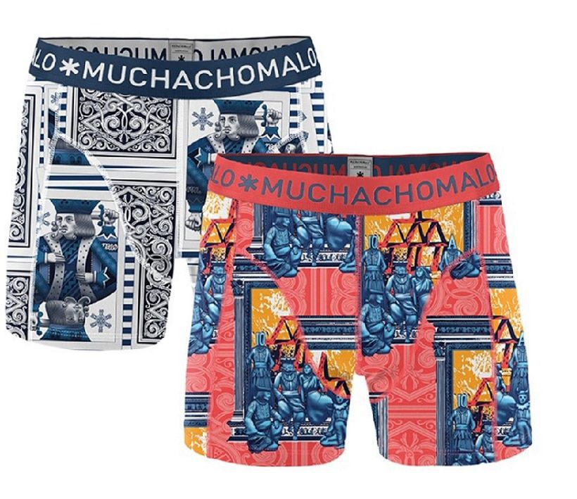 Muchachomalo 2-Pack Men Shorts Royalx04 -M