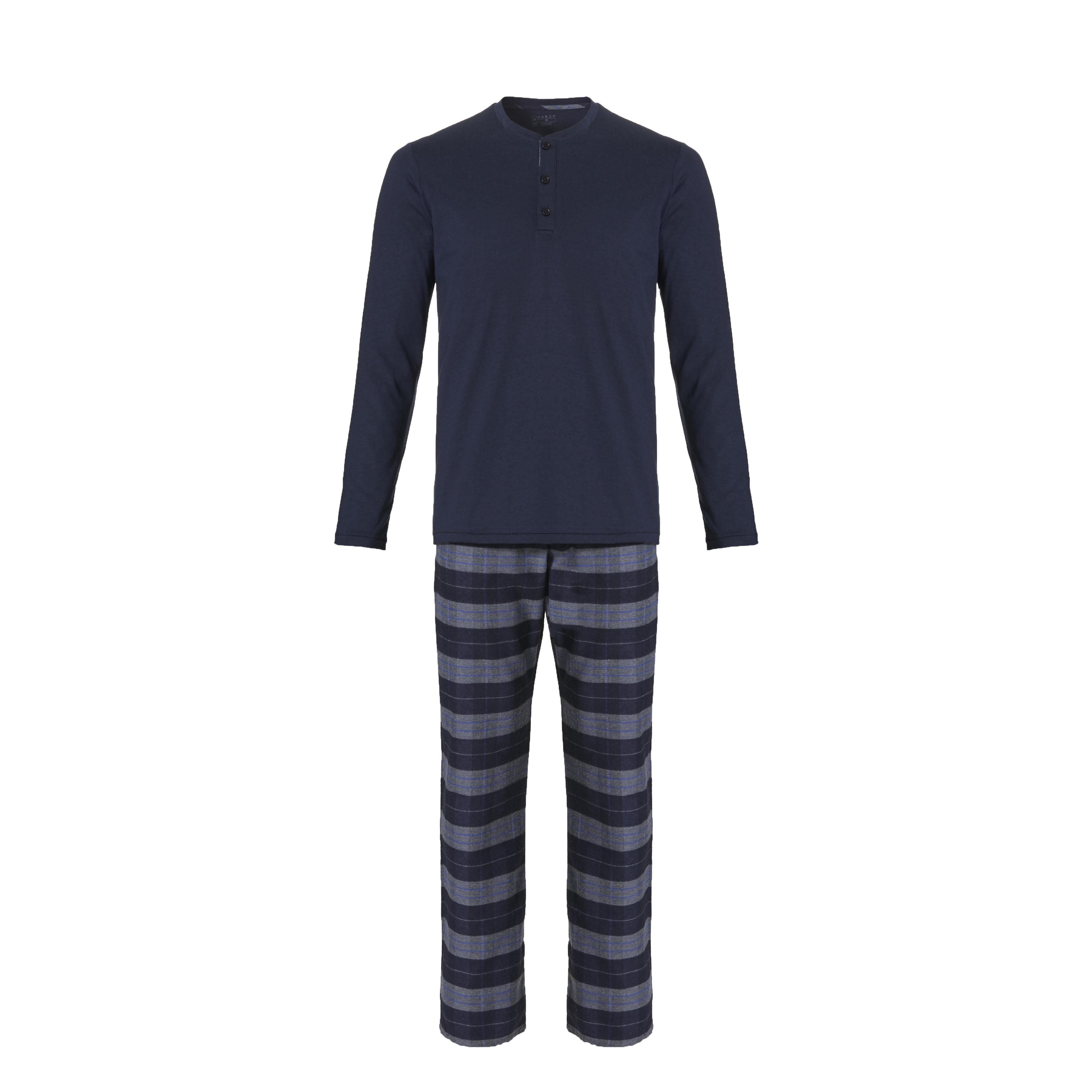 Ten Cate Men Pyjama Navy/Grey