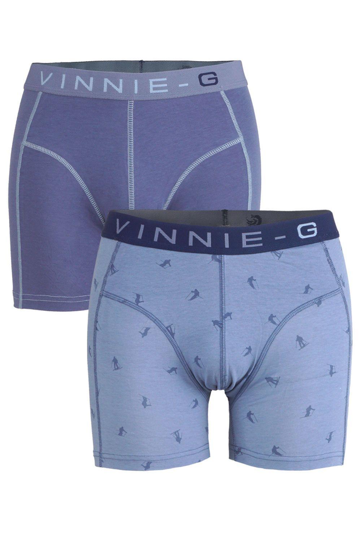 Vinnie-G Boys boxershorts Ski Blue - Print 2-Pack-140/146