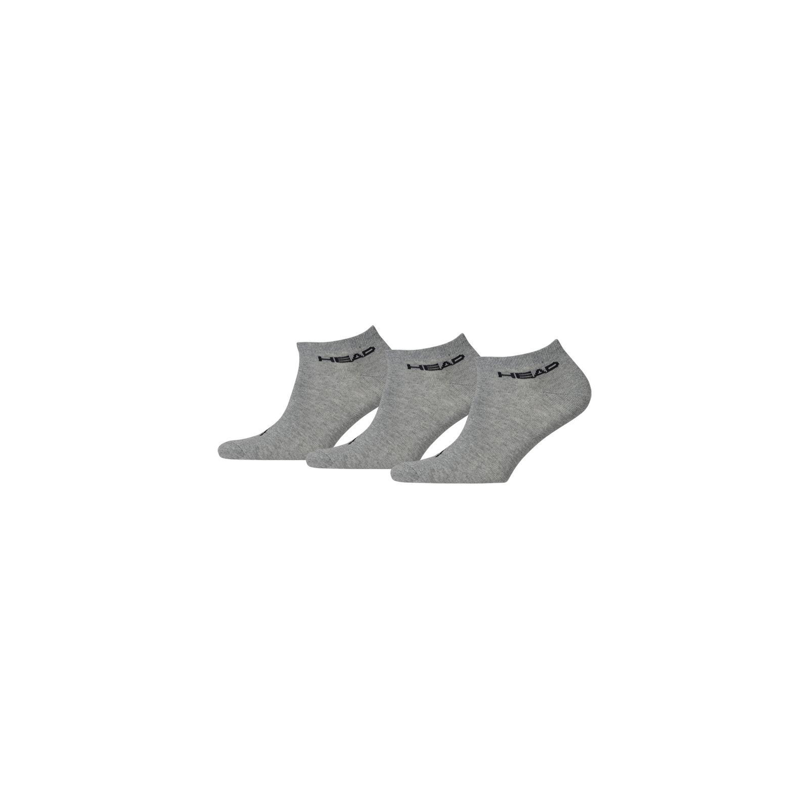 Head 3-pack Unisex Sneaker Sock Grey-43-46
