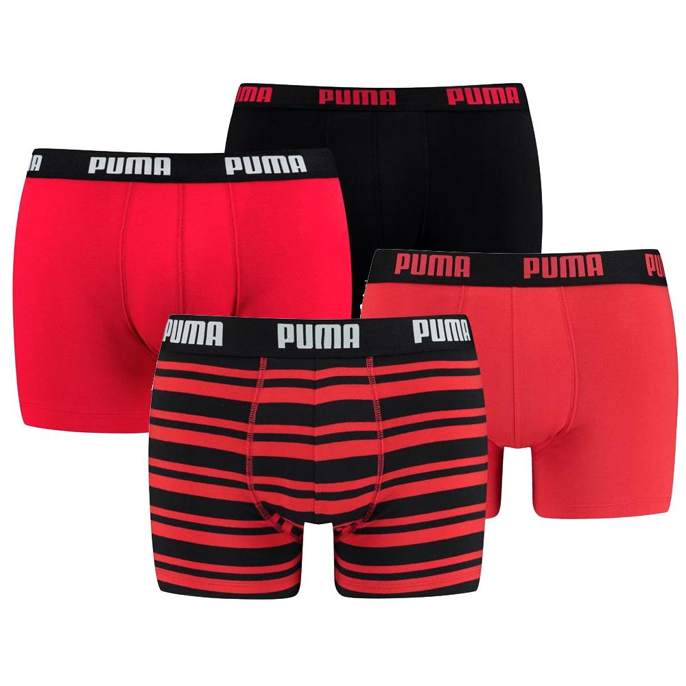 Puma 4-Pack Combi Basic/Stripe Red