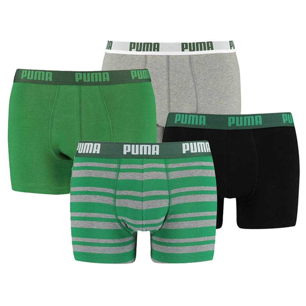 Puma 4-Pack Combi Basic/Stripe Green-L