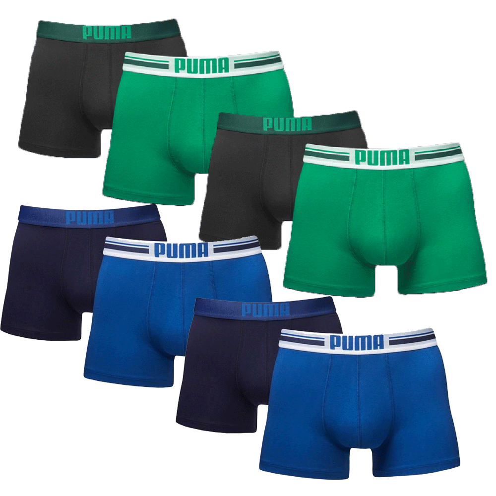 Puma Boxershorts 8-pack Placed Logo Green/Blue/Black
