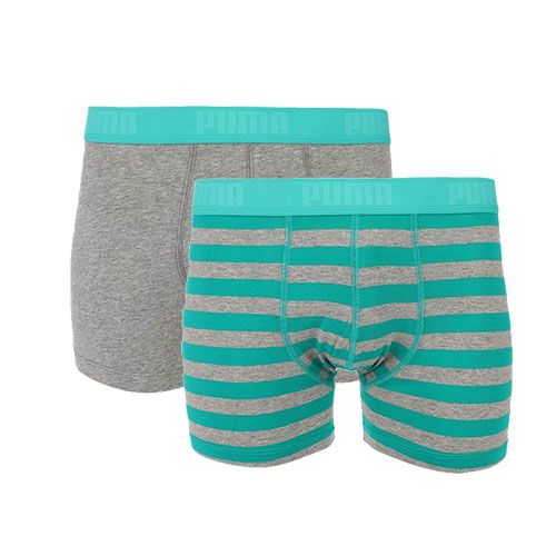 Puma heren boxershorts 2-pack Stripe Columbia Green