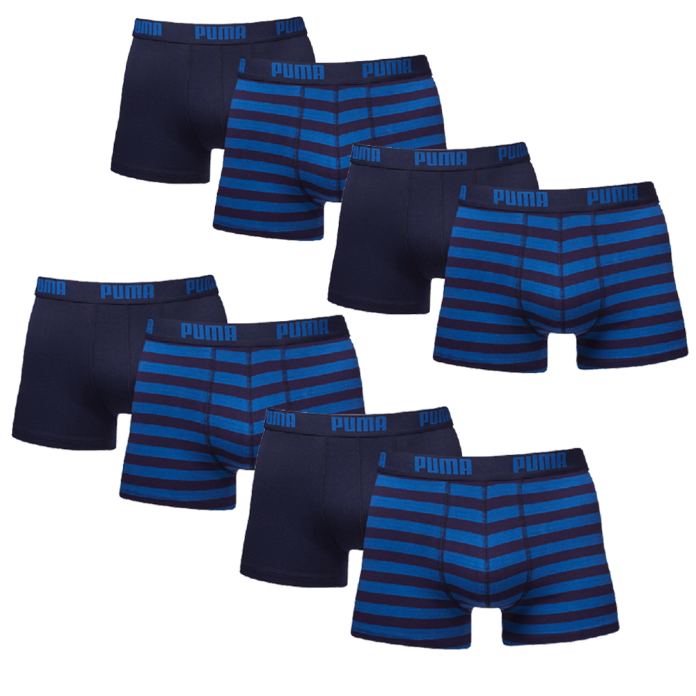 Puma Boxershorts 8-pack Stripe Blue-XL