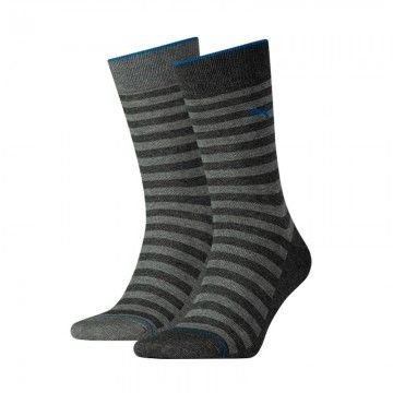 Puma 2-pack Classic Sock Men Antracite Stripe-39-42