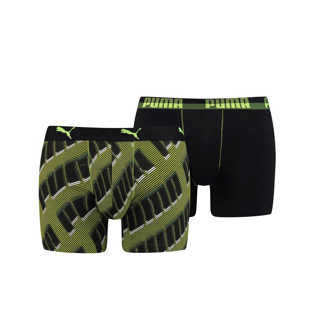Puma Boxershorts basic AOP black/grey/green 2-pack