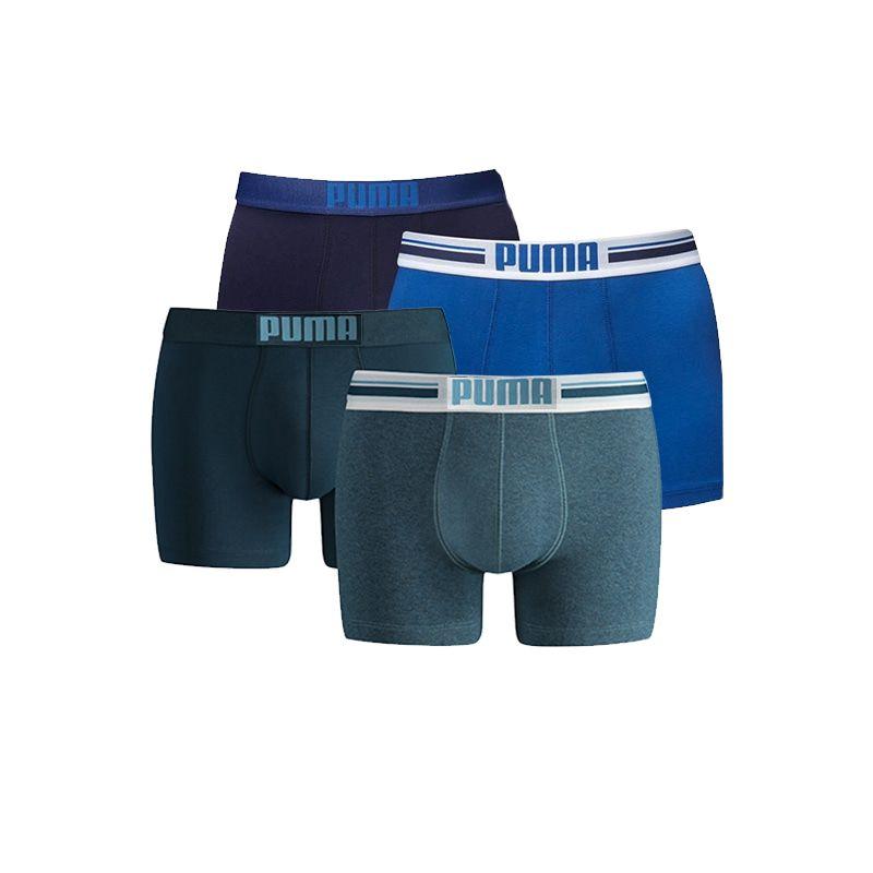 Puma boxershorts Placed Logo 4-pack Blauw/Denim-L