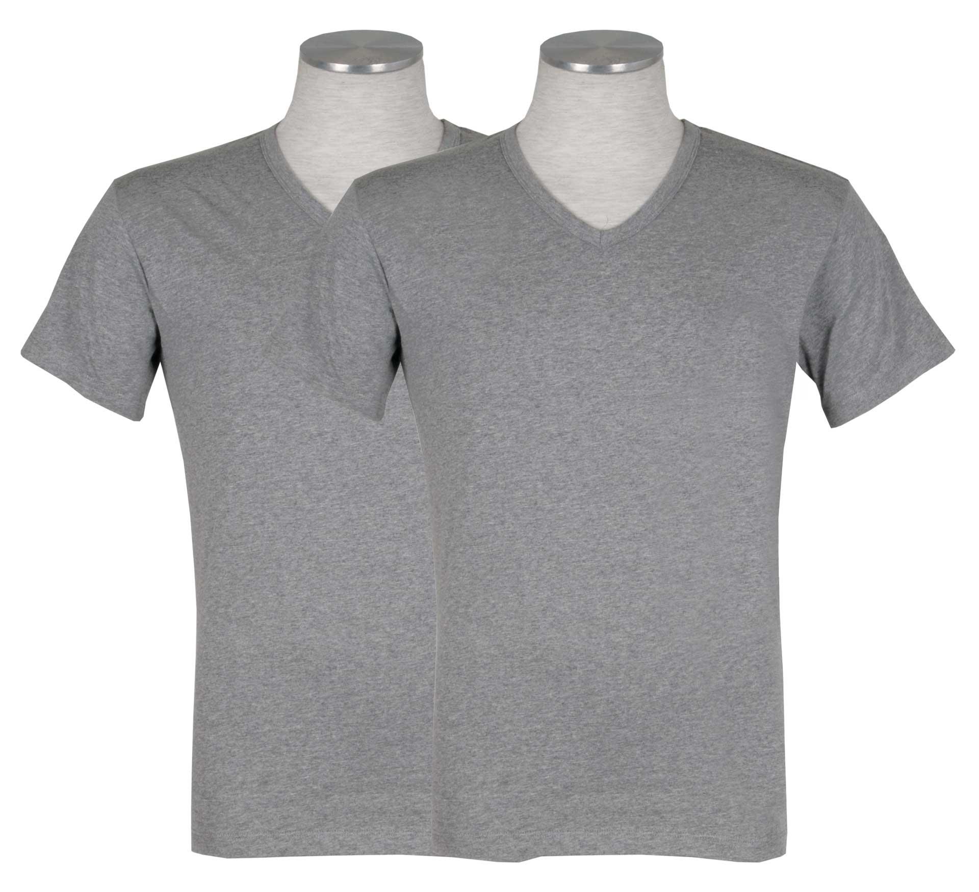 Puma 2-pack V-Neck T-shirt Grijs-M
