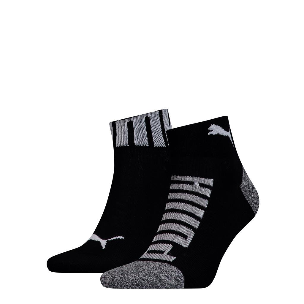 Puma sokken quarter logo heren Black 2-pack-43/46