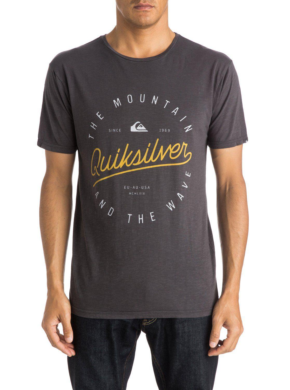 Quiksilver heren shirt Slub Scriptville Grey