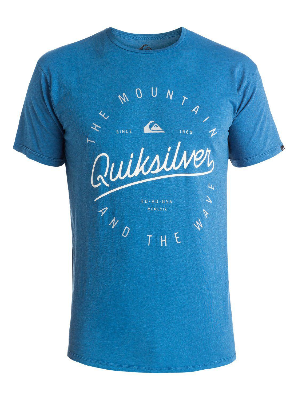 Quiksilver heren shirt Slub Scriptville Blauw