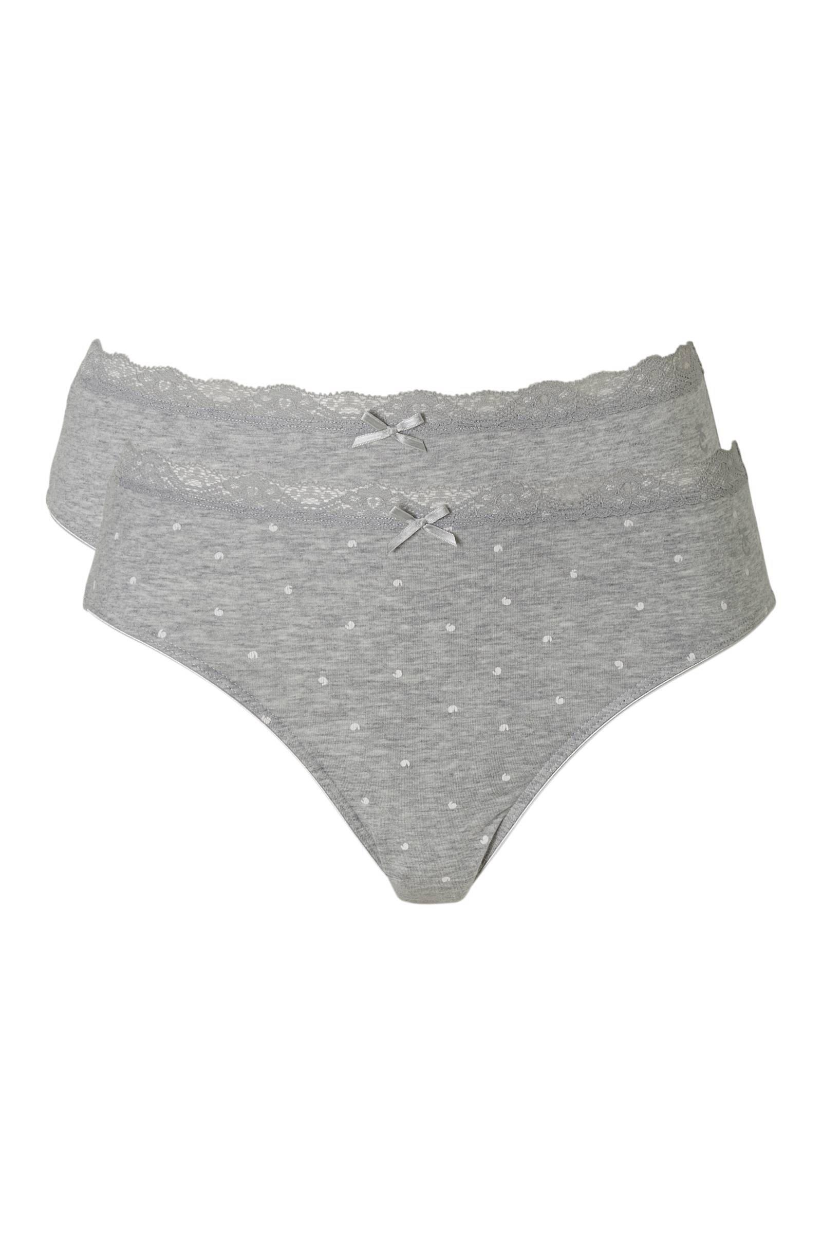 Ten Cate Happy Summer Slip 2-pack Grey