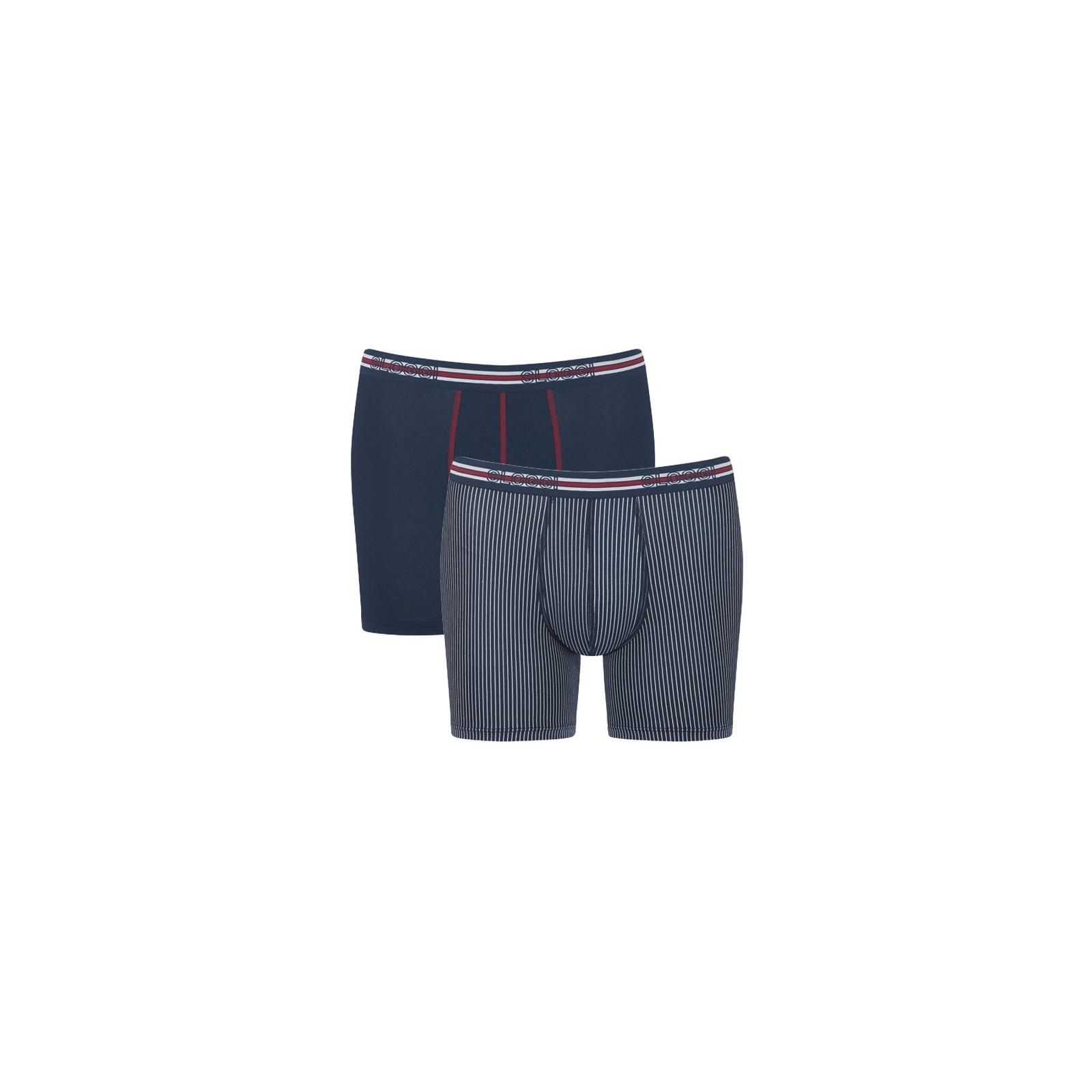 Sloggi Men Match Short C2P 2-Pack Blue-Light Combination
