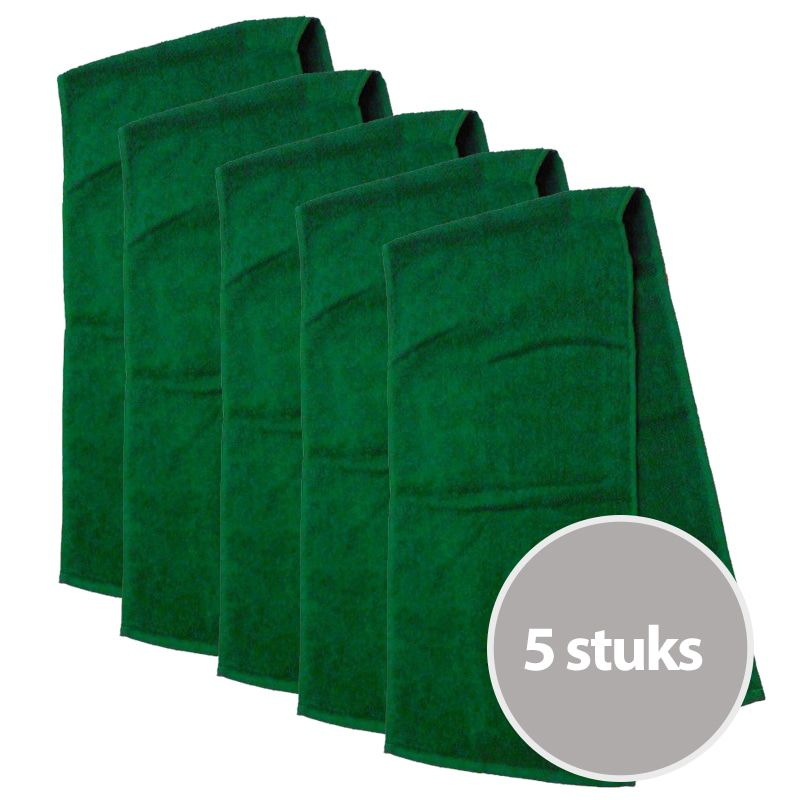 The One Sporthanddoek 30x130 cm 450 gram Groen (5 stuks)