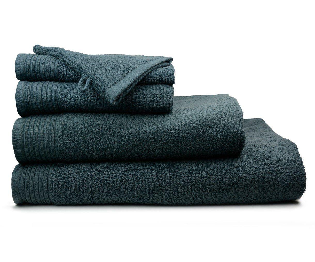 The One Handdoek 450 Gram 50 X 100 Cm Antraciet (5 Stuks)