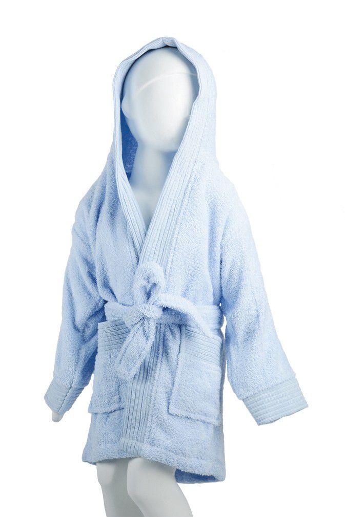 The One Baby Badjas 340 gram Licht Blauw-98/110