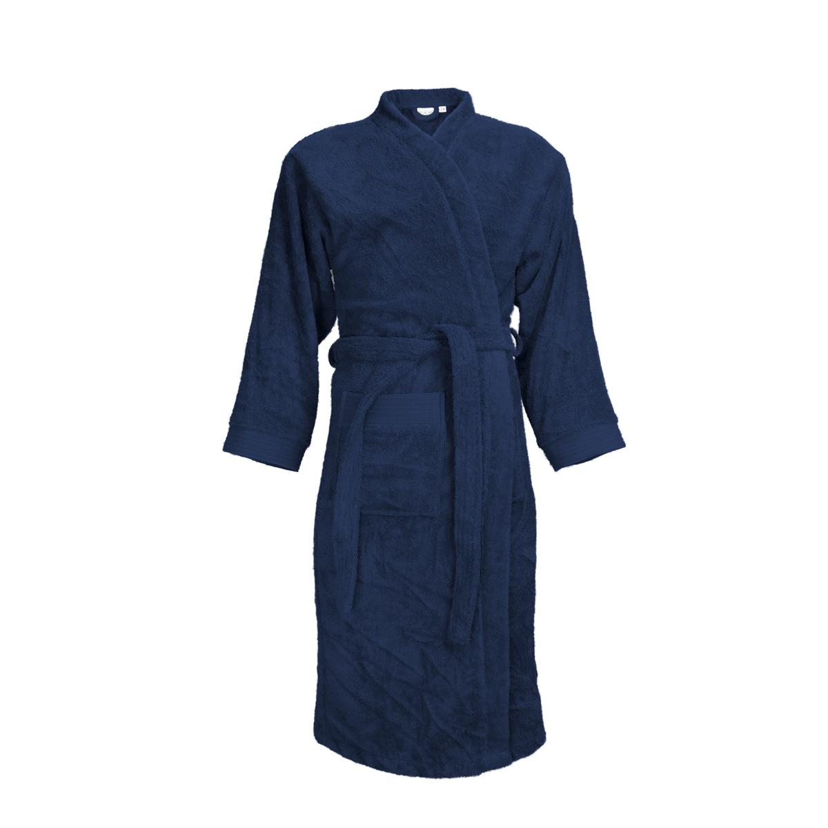 The One Badjas zonder capuchon 340 gram Donker blauw-XXL/XXXL