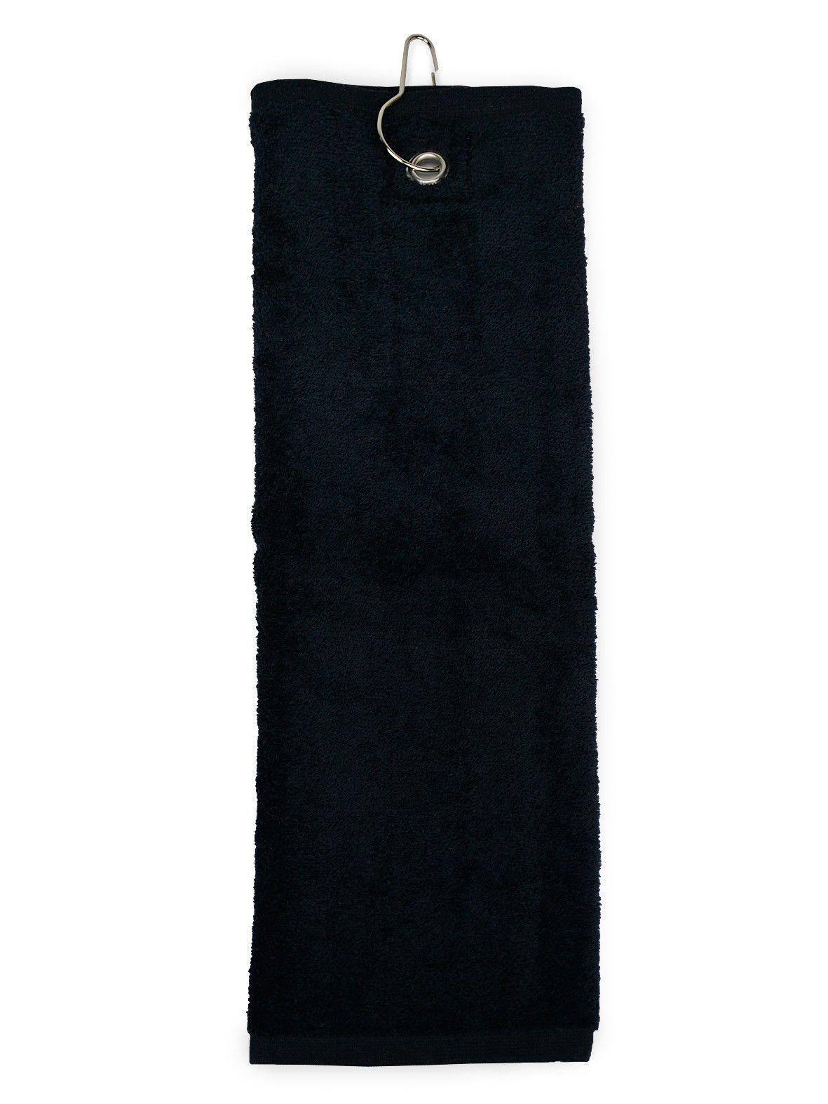 The One Golfhanddoek 450 gram Zwart