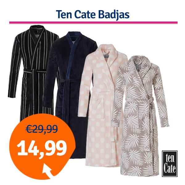 Ten Cate Badjas Heren Stripes-XXL