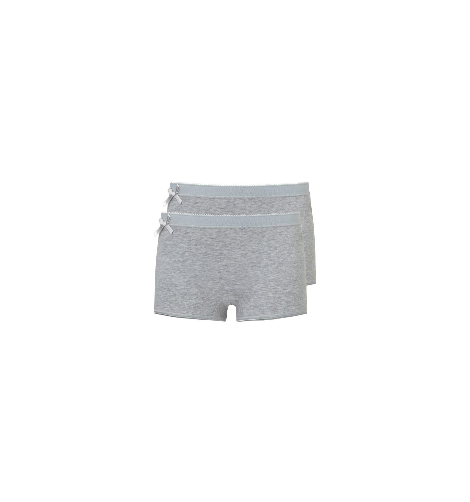 Ten Cate 2 Pack Girls Basic Short Light Grey Melee