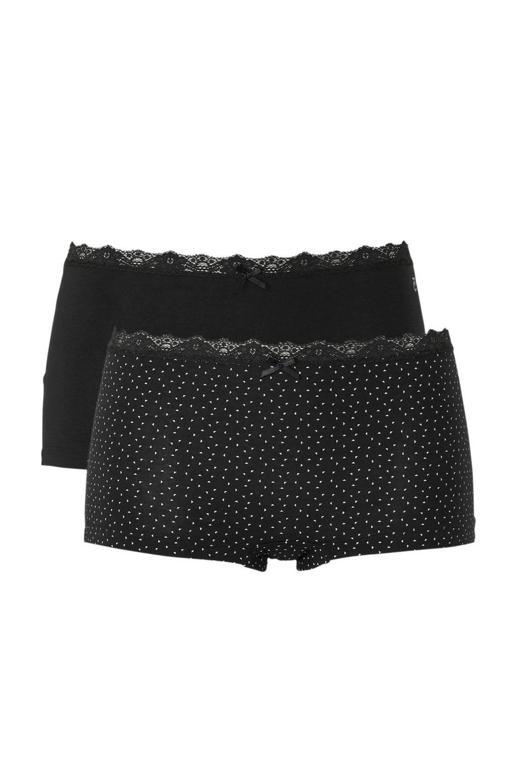 Ten Cate Women short Black 2-pack