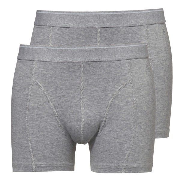 Ten Cate heren boxershorts 2-pack Grey Melee/Grey